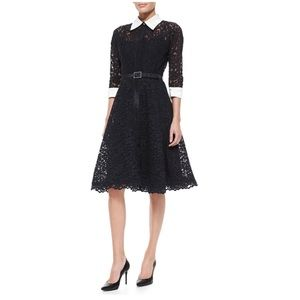 Rickie Freeman For Teri Jon 3/4-Sleeve Lace Dress